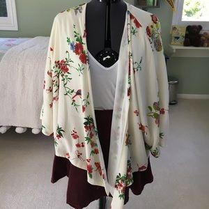 Zara Floral Kimono Jacket